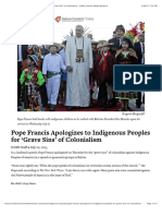 Pope Francis Apologizes to Indigenous Peoples for 'Grave Sins' of Colonialism - Indian Country Media Network
