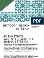 Bitácora teoría estética