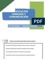 3° básico Planificacion 2° semestre Lenguaje 2015 (AGOSTO-SEPT)