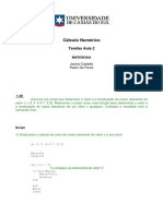 Tarefas Aula 2 - Cálculo Numérico