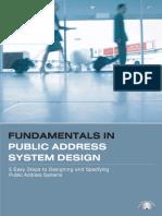 PA System Design Fundamentals (Book 1).pdf
