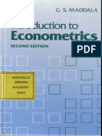 Maddala G.S. Introduction to Econometrics