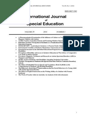 IJSE ENTIRE ISSUE Vol  29 No  3 2014 pdf | Autism | Autism