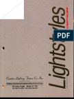 Lightolier Lightstyles Brochure 1989