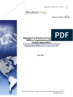 BPM Align Business With ERP