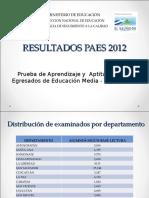 Informe de Resultados Paes 2012