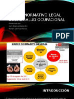 Marco Normativo Legal Sobre Salud Ocupacional