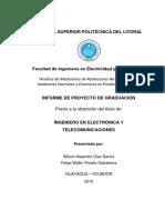 Analisis de Mediciones de Radiaciones No Ionizantes en Ambientes Interiores y Exteriores en Predios de La Espol