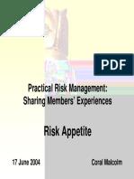 Cm Risk Appetite