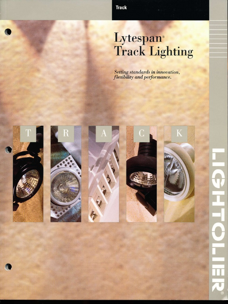 lightolier lytespan track lighting systems catalog 1996 equipment