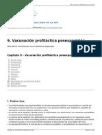 MANUAL de VACUNAS AEP - 9. Vacunación Profiláctica Posexposición