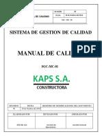 Manual de Calidad para un SIG de la Constructora KAPS S.A.