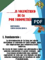Determinacion de Cu Por Volumetria