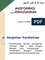 3. Transformasi wirausaha