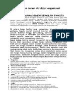 Uraian Tugas Dalam Struktur Organisasi