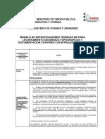 Especificaciones Técnicas Catastro Urbano Bolivia