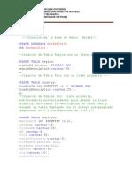 Script de Creacion BD Market2016.1