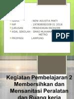 PTT Kp 2 Membersihkan Dan Mensanitasi Peralatan Dan Ruang Kerja