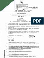 2011 Cape Mathematics Unit 2 P1 (MC) Answers