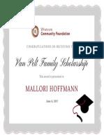hoffmann certificate - draft