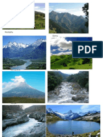 Montaña + lagos + rios + recursos renovables y no renovables cordillera sierra ++