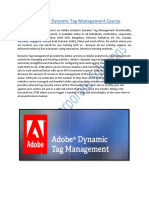 Adobe Analytics Dynamic Tag Management Course