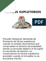 TITULOS SUPLETORIOS diapositivas