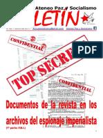 Boletin del Ateneo Paz y Socialismo de junio de 2017