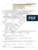 Maths Paper With Solution Paper II Code 9
