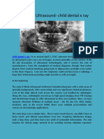 Behavioral Ultrasound- child dental x ray