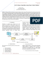 Improved Dynamic Parallel K-Means Algorithm using Dunn's Index Method
