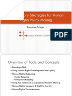 Participatory Strategies for Human Rights Policy Making
