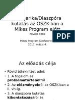 Kovács Ilona – Diaszpóra kutatás az OSZK-ban
