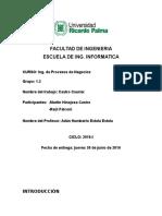 Ingenieria de Procesos, Informe