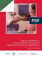 Triage Obstetrico Codigo Mater y Equipo de Respuesta Inmediata Obstetrica