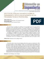 Efectos Del Diálogo Socrático en estudiantes de Ingeniería (Artículo)