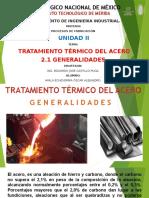 2.1 Generalidades Del Tratamiento Térmico Del Acero