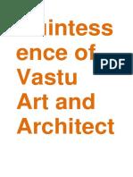 Quintessence of Vastu Art and Architecture