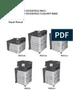 HP LaserJet Enterprise M855 M880 Flow MFP Repair Manual 1