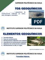 Tema 3. Métodos Geoquímicos de Monitoramento Ambiental Em Rochas, Solos, Drenagens e Atmosfera