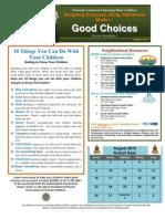 Aug 2010 Parent Newsletter