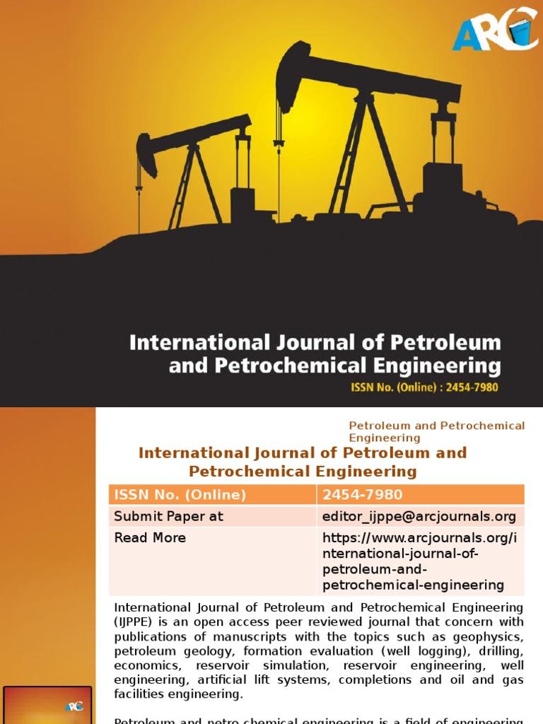International Journal of Petroleum and Petrochemical