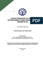 Caracterizacao Da Nafta Petroquimica Para Producao de Produtos Aromaticos