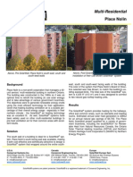 SolarWall Case Study - Place Nolin (Multi Residential) solar air heating system