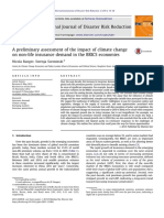 Preliminary Assessment of the Impact of Climate Change on Non-life Insurance Demand in BRICS Economies