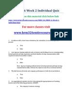 UOP HRM 326 Week 2 Individual Quiz