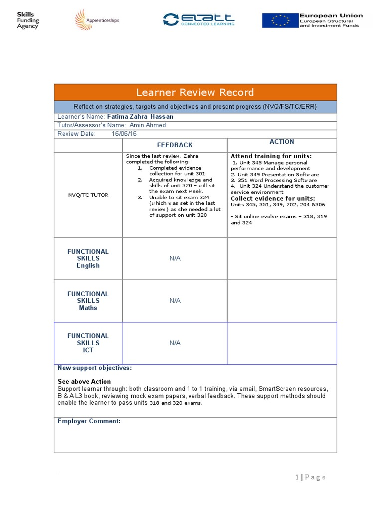07 learner review recordzahra3 | Educational Technology