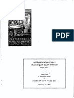 Instrumentation study BL solids Content