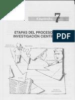 Etapas Del Proceso de Investigación Científica Cap 7