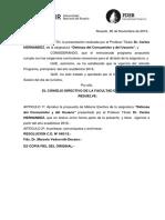 Resol C D N645-15 Programa de Derecho Del Consumidor y Del Usuario 30-11-15